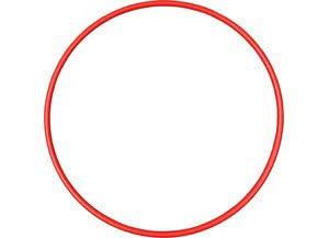 Gymnastikreifen 75 cm,rot