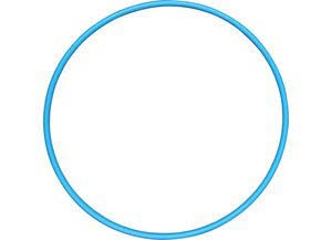 Gymnastikreifen 75 cm,blau