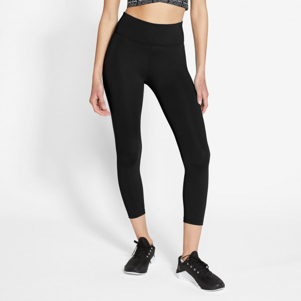 NIKE ONE WOMEN'S CROPPED TIGHT,BLA