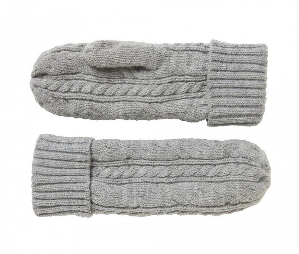 North Bend Cable Knit Mitten SR,GRE