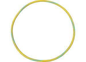 Gymnastikreifen Bicolor 75 cm,gelb-